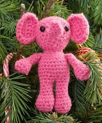 elenora elephant ornament crochet pattern holiday christmas