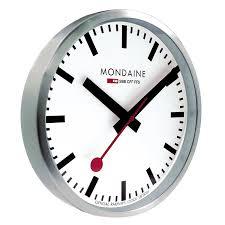 amazon com mondaine a990 clock 16sbb wall clock white dial