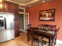 Red Accent Wall by Benjamin Moore Audubon Russet This Is Actually My Kitchen Our