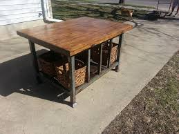 metal kitchen island spectacular kitchen islands made from junk with rustic wooden