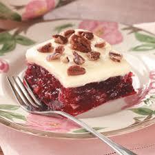 cranberry gelatin squares recipe buffet squares and holidays