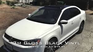 volkswagen gli 2016 white 2012 vw jetta 3m gloss black vinyl roof installed youtube