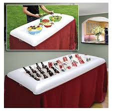 Inflatable Table Top Buffet Cooler Inflatable Buffet Serving Bar Ice Cooler Keep Food Drinks Cold