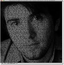 typography portrait tutorial photoshop elements create a portrait from text photoshop tutorial
