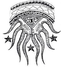 fantastic filipino stars and tribal pattern sun tattoo design