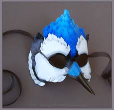 crow mask halloween blue jay leather mask by windfalcon on deviantart halloween