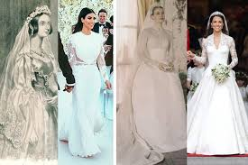 non white wedding dresses when did a white wedding gown become a symbol of