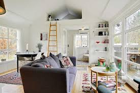 black and white danish summerhouse small house bliss