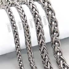 man silver link bracelet images Men silver punk stainless steel link chain bracelet mew jewels jpg