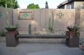 diy cinder block bench in the garden creative ideas for your patio