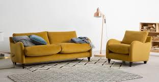 3 sitzer sofa sofia 3 sitzer sofa samt in kurkumagelb made com