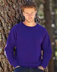 62216 fruit of the loom raglan sweatshirt