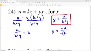 kutasoftware algebra 1 literal equations part 3 youtube