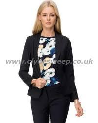 lec16396 forcast sharon pinstripe suit jacket women coats
