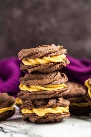 chocolate pumpkin viennese whirls marsha u0027s baking addiction