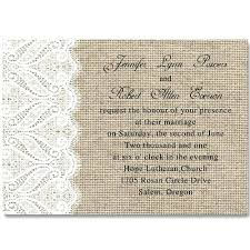 Burlap And Lace Wedding Invitations Rustic Burlap Wedding Invitation Sets Rustic Vintage Cameo Brooch