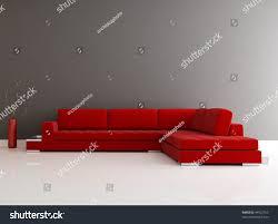 red velvet sofa minimalist lounge rendering stock illustration