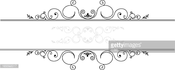 ornamental floral line vector getty images