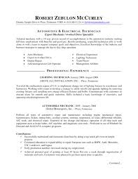 Electrical Technician Resume Download Resume For Auto Mechanic Haadyaooverbayresort Com