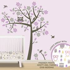 Purple Wall Decals For Nursery Owl Tree Wall Decals Owl Nursery Theme Tree Wall Decals To