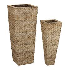Large Wicker Vases Amazon Com Household Essentials Decorative Wicker Tapered Floor