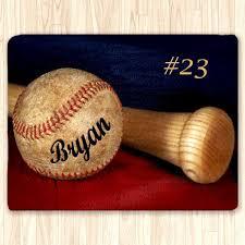 Fuzzy Area Rug Custom Baseball Fuzzy Area Rug Personalized U2013 2cooldesigns