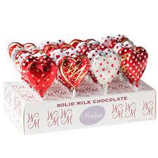 chocolate heart candy milk chocolate heart lollipops 24ct box wedding candy