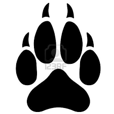 wolf paw print clipart clipartxtras