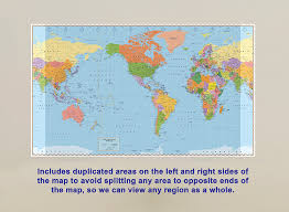 World Map Hemispheres by Amazon Com United States Centered World Map Laminated 53 5
