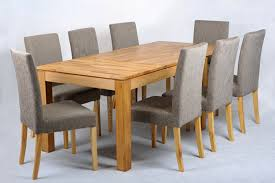 Oak Dining Table And Fabric Chairs Oak Extending Dining Table And Fabric Chairs Set Grey
