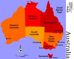 states australia map welcome to australia states