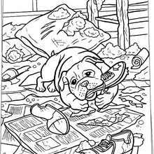 running dogs coloring pages hellokids com
