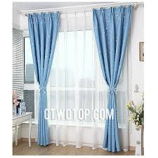 Kids Blackout Eyelet Curtains Cheap Kids Room Blackout Baby Blue And Silver Star Curtains