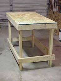 Simple Work Bench Diy Workbench With Free Plans And Cut List From The Craft Crib