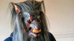 werewolf animatronic halloween mask being worn in action youtube