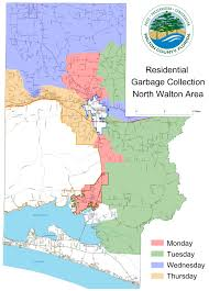 Map Of 30a Florida Residential Waste Collection Walton County Fl Home Page
