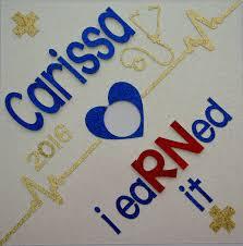 I eaRNed it Custom Nurse Graduation Cap Topper by GlitterMomz
