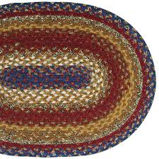 country style braided cotton rugs log cabin step