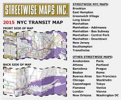 New York Bus Map by Streetwise Transitwise New York City Subway Map Manhattan Subway