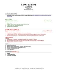 How To Form A Resume For A Job by Resume For High Student With No Work Experience Berathen Com