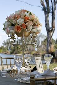 candelabra centerpieces fancy that events gold candelabra blush floral centerpiece