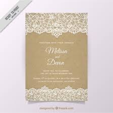 invitation marriage vintage wedding invitation with lace vector free