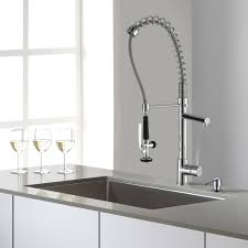 Kitchen Sink Faucet Installation by Stainless Steel Kitchen Sink Combination Kraususa Com