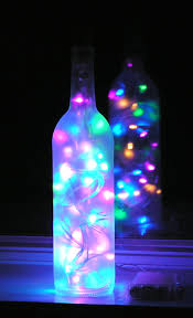 led lights decoration ideas with christmas crafts wine bottles