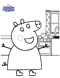 printable peppa pig coloring pages coloringstar