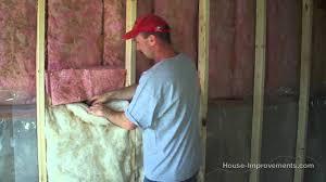 Exterior Basement Wall Insulation by How To Install Fiberglass Batt Insulation U0026 Vapor Barrier Youtube