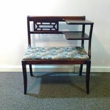 Vintage Telephone Bench Find More Vintage Telephone Seat Gossip Bench With Upholstered