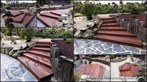jacuzzi bois exterieur pour terrasse agencements extérieurs construction de terrasse bois escalier