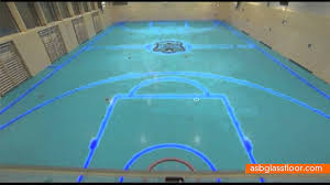 Basketball Courts With Lights Tron Basketball Court Is A Game Changer Youtube