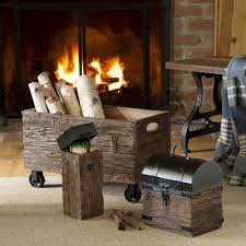 iron and wood fireplace match holder with long matches so that u0027s